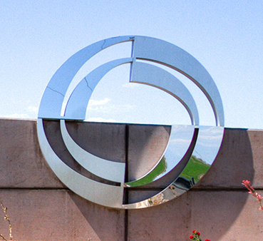 CAC Silver Logo on San Tan Campus Welcome Sign