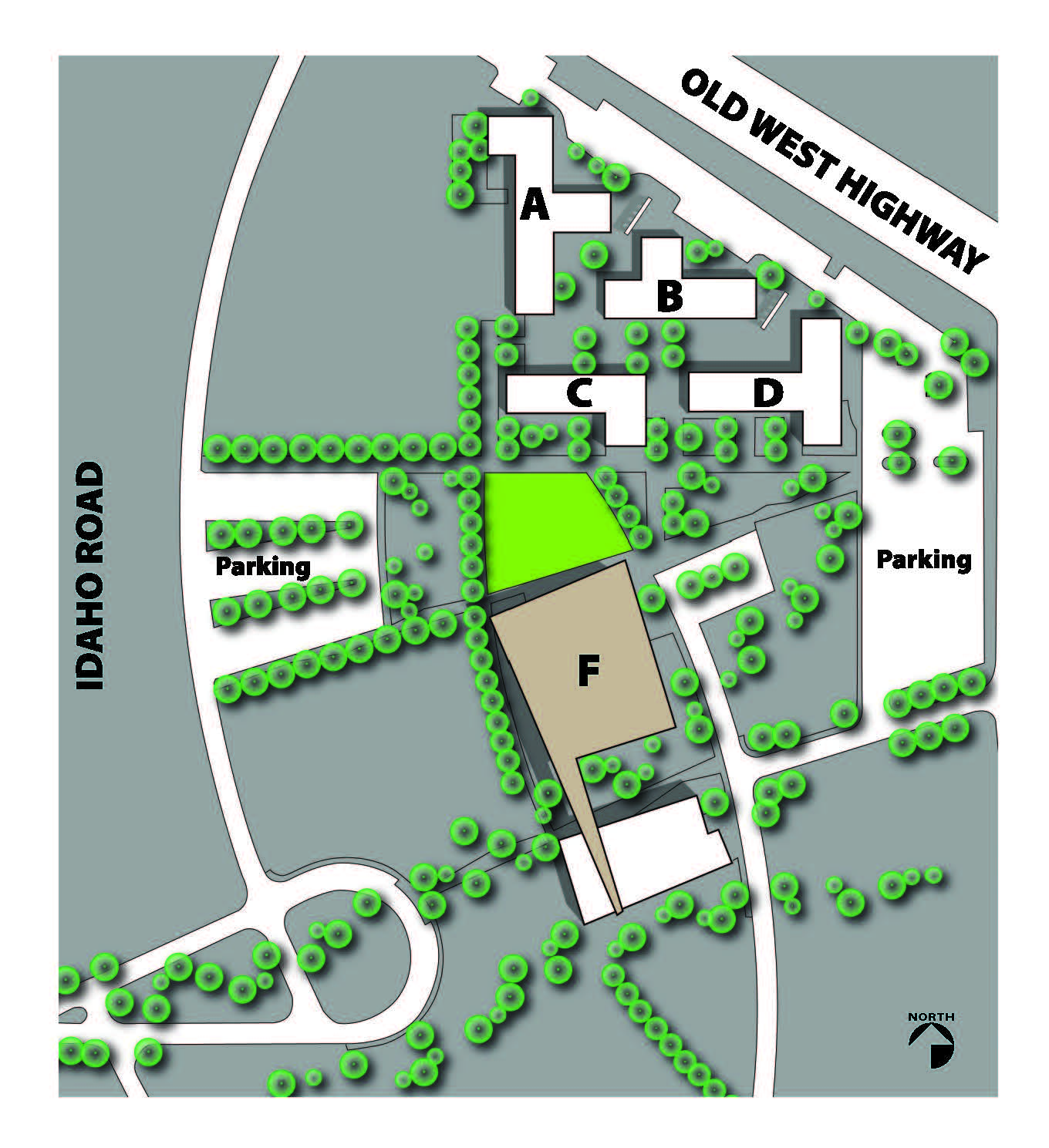 on map campus