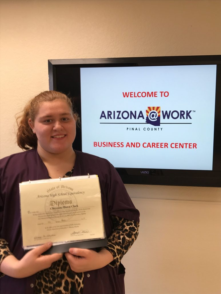 Photography of Youth Program Participant who completed her GED