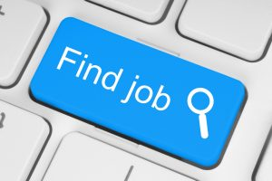 Blue find job button