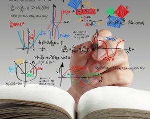 hand writing math and science formula