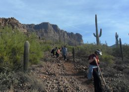 Radiologic Technology students perform trail work