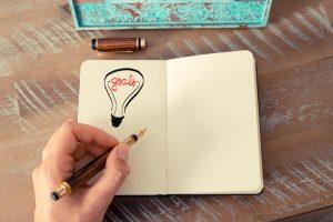 light bulb with goals