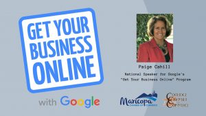 Image promoting Grow Your Business Online Workshop with Paige Cahill