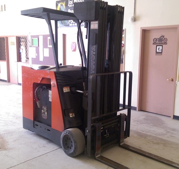 Toyota Forklift donated to CAC by Daisy Brand
