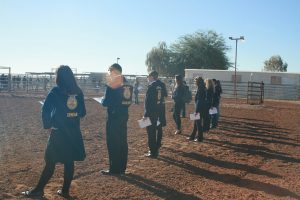 FFA Students at Horse Judging contest