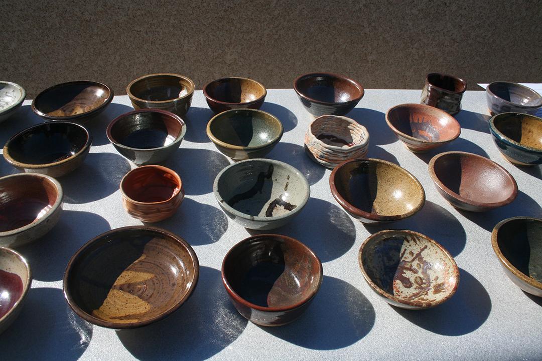 photo of ceramic empty bowls