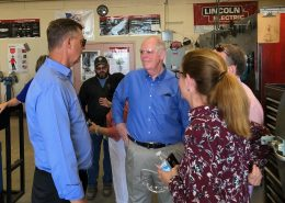 Congressman O'Halleran Speaks with Dan Haag from Sundt Construction during CAC tour