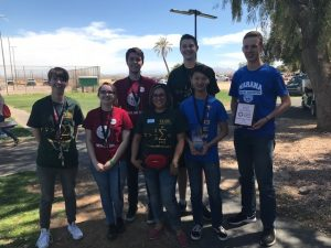 CAC 2018 Math Contest winners and Professor Elly Leamons