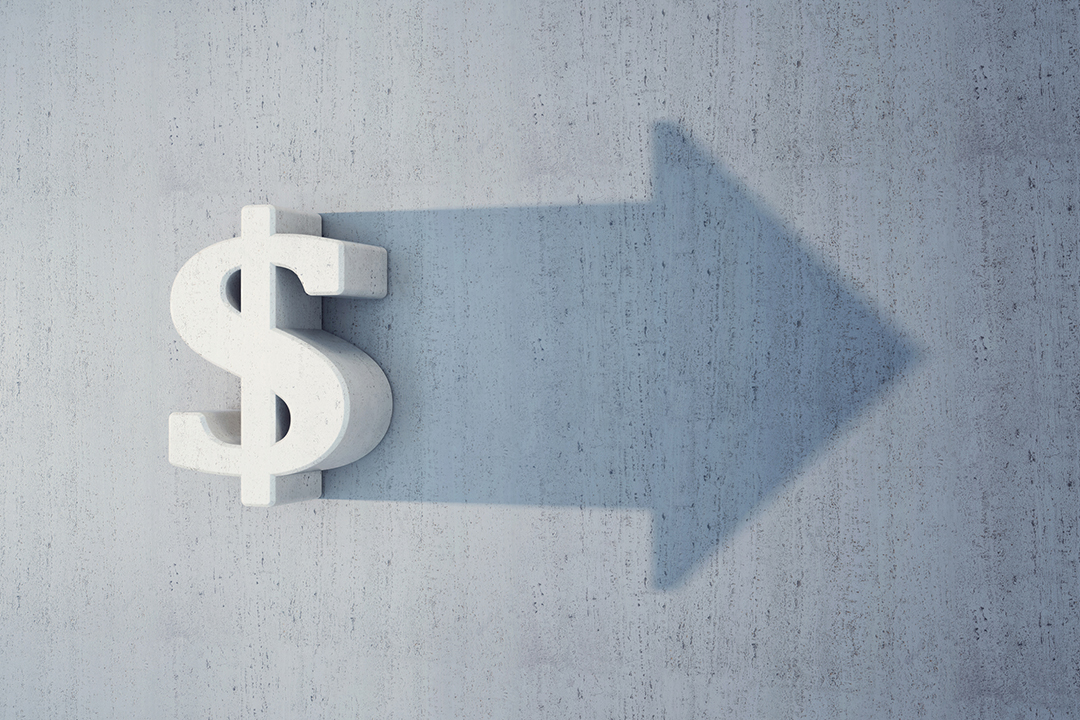 dollar sign and arrow image