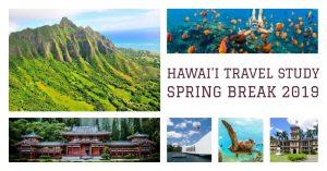 2019 Travel Study Program to Hawai'i