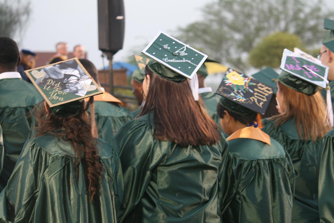 CAC Graduates Decorated Mortar Boards