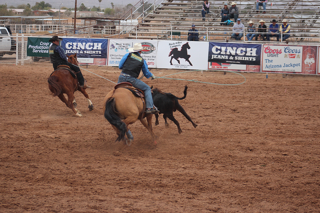 CAC Team Ropers during CAC Rodeo