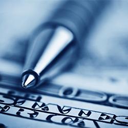 pen on money