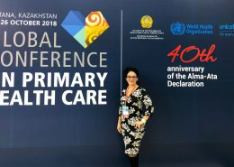 Maria Valenzuela at Global Conference on Primary Health Care
