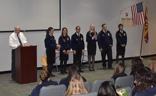 FFA District Officers Lead Awards Ceremony for Fall CDE Day at CAC
