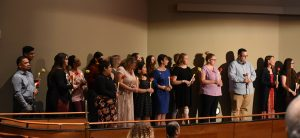 PTK Inductees during ceremony