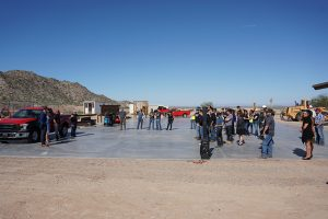 Sundt Concrete pad dedication at CAC