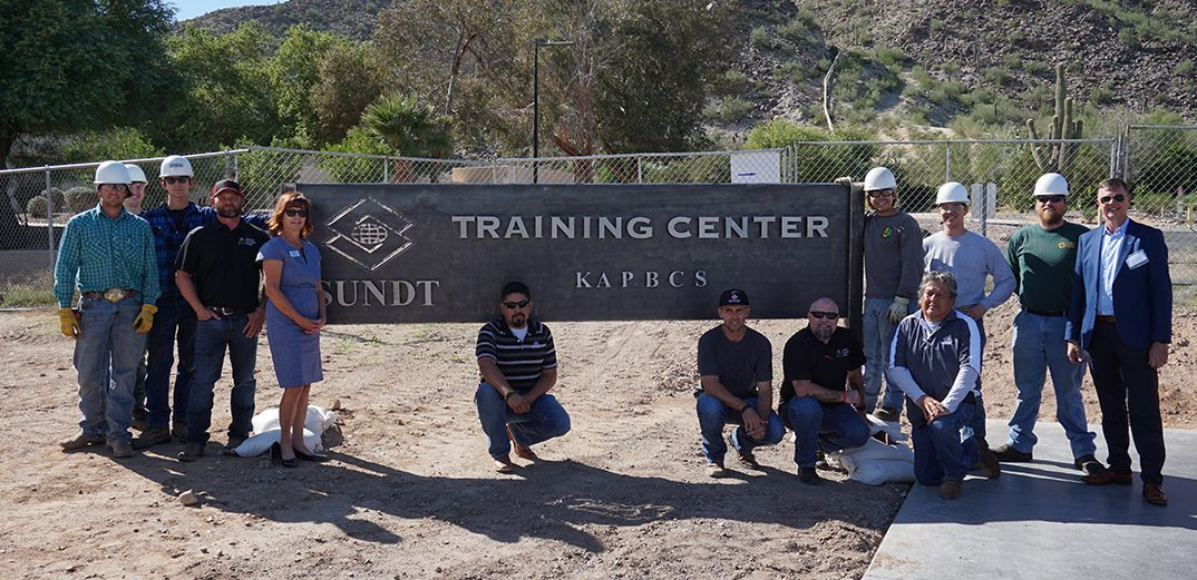 Sundt Training Center Sign created by Welding Students