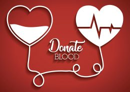 donate blood image with two hearts