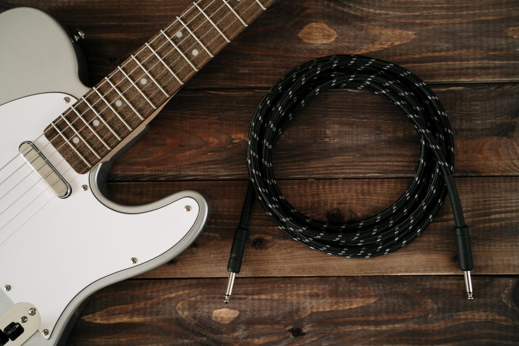 guitar and cables