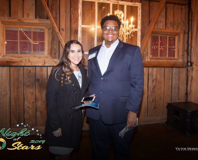 Student Eric Glass and Student Speaker Esmeralda