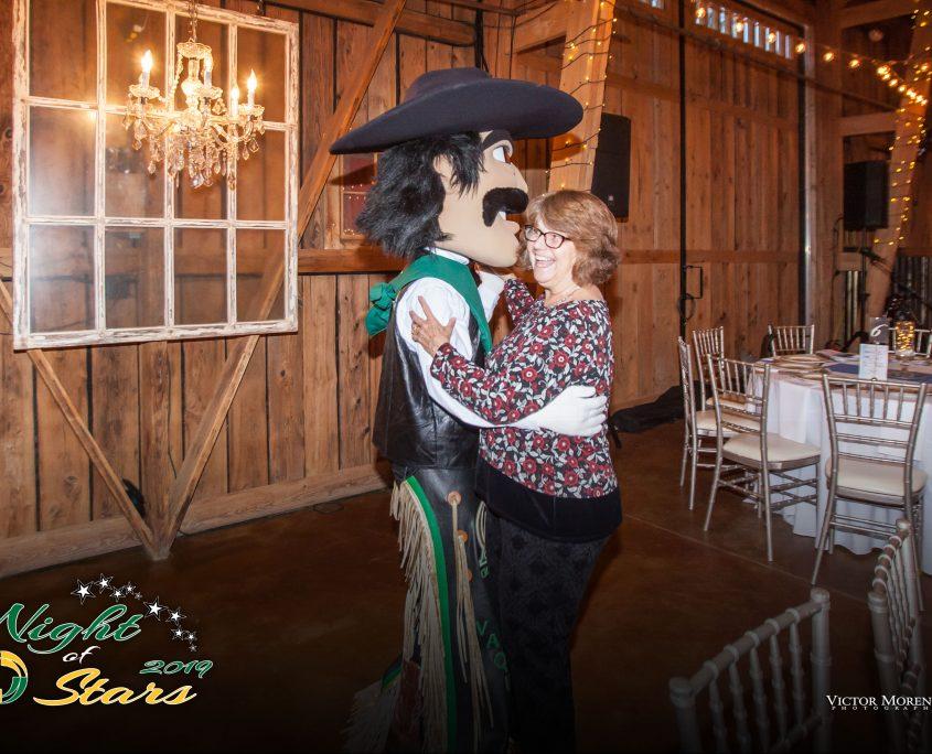 Photo of Mascot Vaquero pete and Maggie Dooley