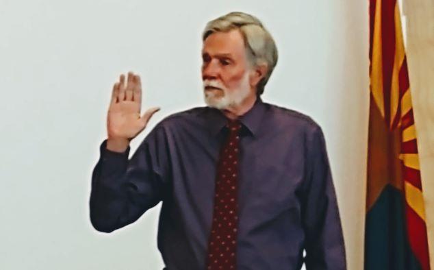 swearing in david waldron governing board