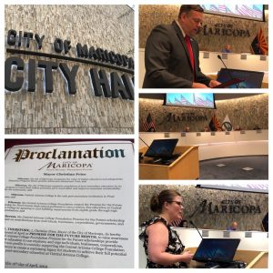 Maricopa Mayor presents proclamation for Promise for the Future