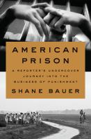cover of library book American Prison