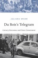 cover of library book Du Bois's Telegram