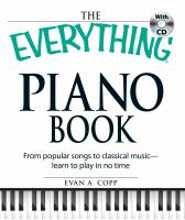 cover of library book Everything Piano Book