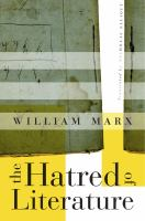 cover of library book Hatred of Literature