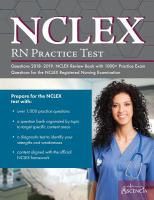 cover of library book NCLEX-RN Practice Test Questions
