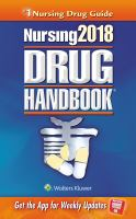 cover of library book Nursing 2018 Drug Handbook