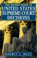 cover of library book Oxford Guide to United States Supreme Court Decisions