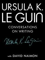 cover of library book Ursula K Le Guin Conversations on Writing