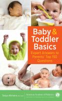 cover of library book Baby & Toddler Basics Expert Answers to Parents' Top 150 Questions