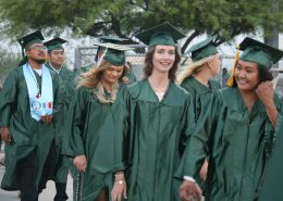 Students walking in Graduation