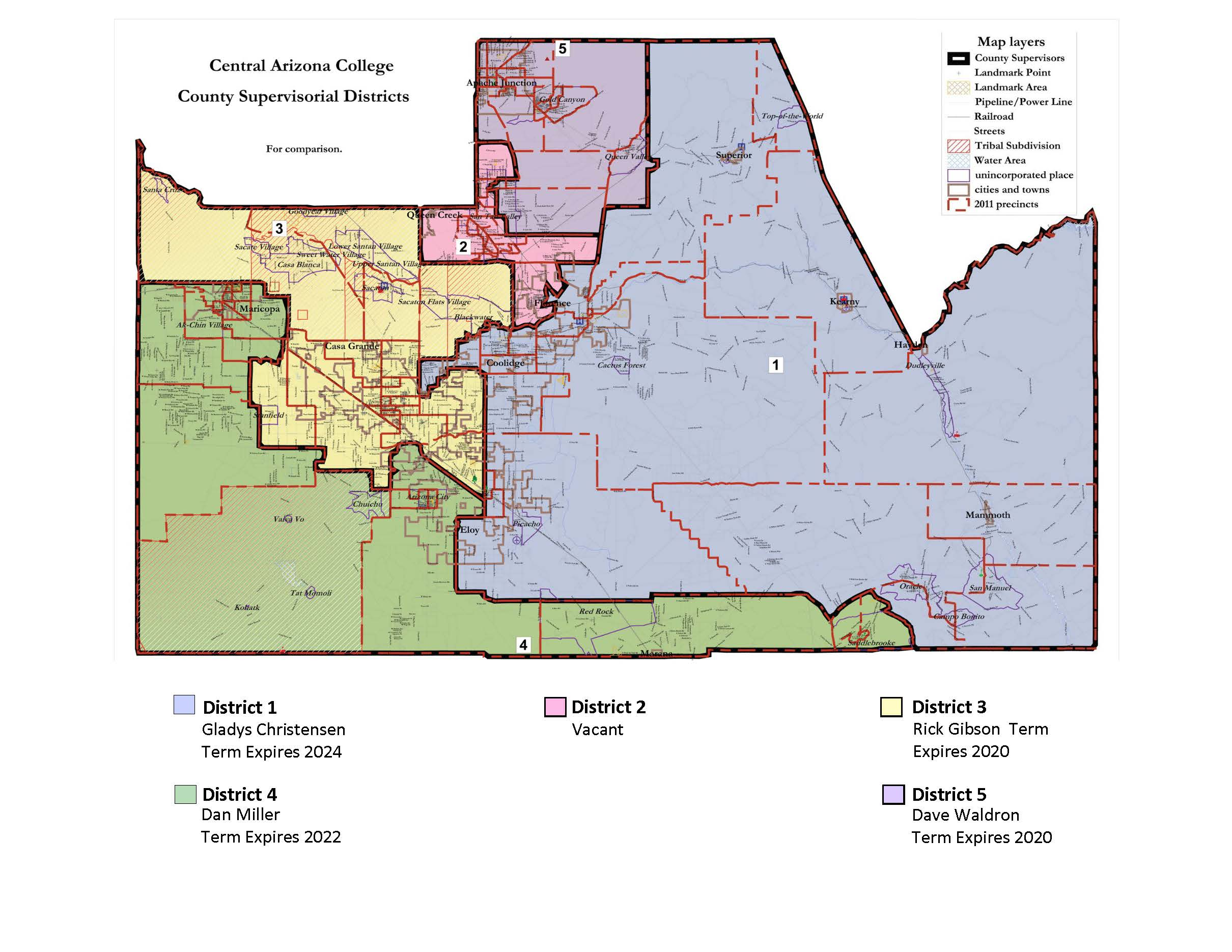 County supervisorial districts Updated June 2019
