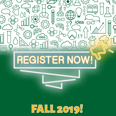 Register Now Fall 2019