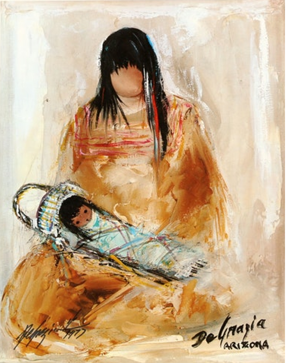 De Grazia Painting titled Apache Mother