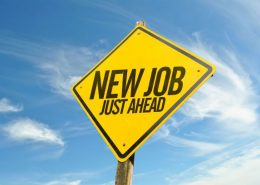 New job ahead sign