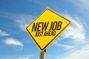 New job ahead sign