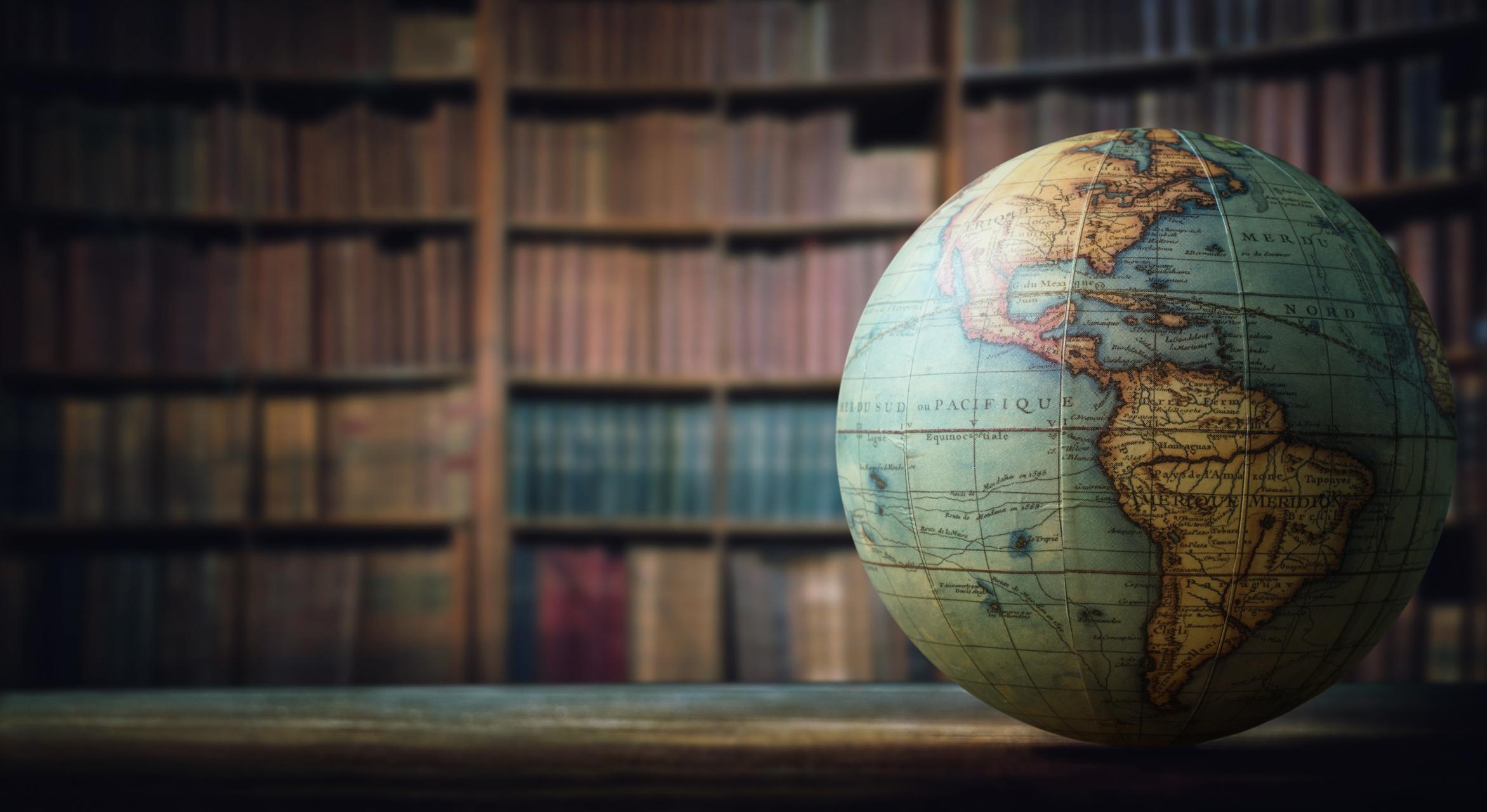 history, globe