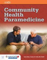 library book cover of Community Health Paramedicine