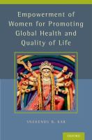 library book cover of Empowerment of Women for Promoting Global Health and Quality of Life