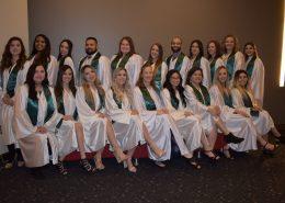 Fall 2019 Nursing program graduates at pinning ceremony
