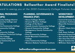 List of Bellwether award finalists