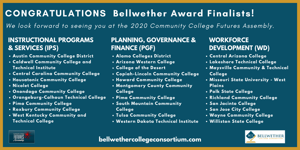 List of Bellwether award finalists